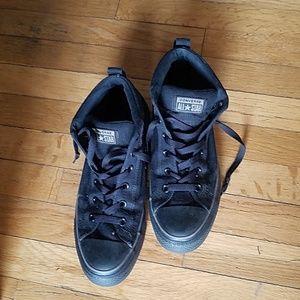 Converse Mens Size 9 All Black Hi Tops